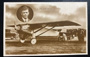 Mint France Real Picture Postcard Early Aviation Lindbergh Spirit Of St Louis