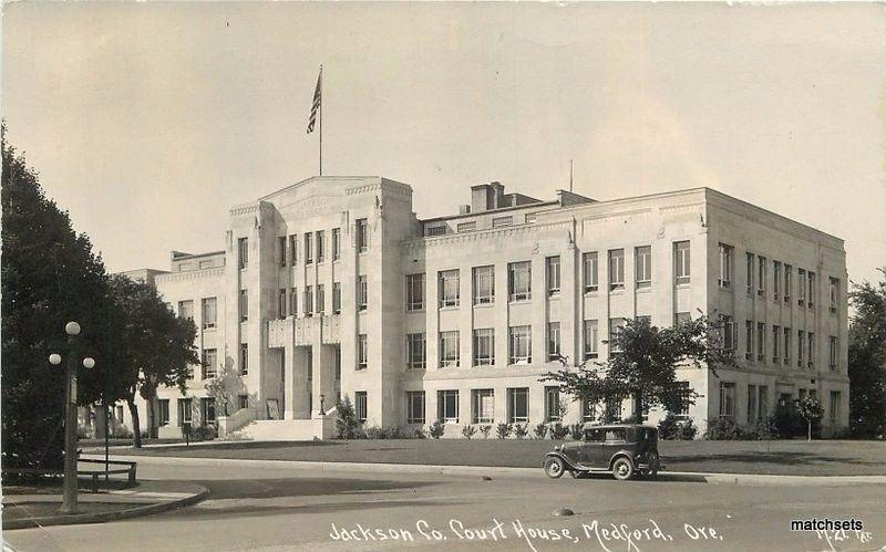 1936 Jackson County Court House Medford Oregon Patterson RPPC Real photo 12604