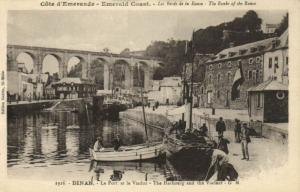 CPA DINAN - Le Port et le Viaduc - The Harbourg and the Viaduct (104312)