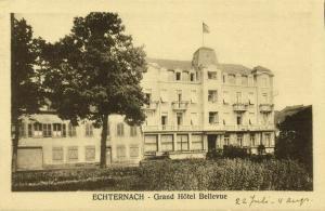 luxemburg, ECHTERNACH, Grand Hôtel Bellevue (1930s) Postcard