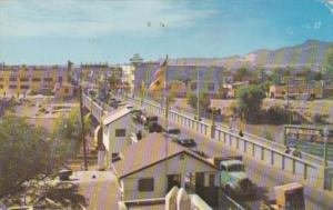 Birds Eye View Of International Bridge Looking Towards Ciudad Juarez Mexico
