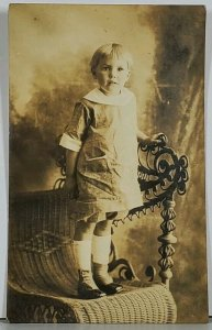RPPC Cutest Girl Edwardian Button Up Shoes Hagerstown Md Family Postcard K2