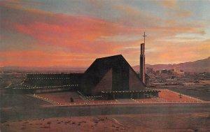 EL PASO, TX Texas  FIRST PRESBYTERIAN CHURCH Christmas Luminarios~Night Postcard