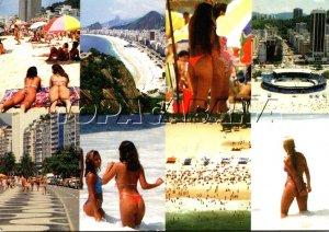 Brazil Rio De Janeiro Beach Scenes Semi Nudes