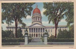 Maine Augusta State House Curteich
