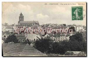 Old Postcard Pontoise View from the station
