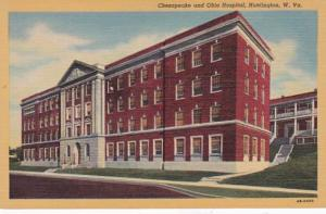 West Virginia Huntington Chesapeake and Ohio Hospital Curteich