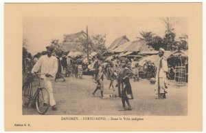 Benin; Dahomey, Porto Novo, In The Native Village PPC, By ER, Unused, c 1920's