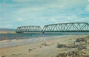 Railway & One Way Highway Bridge St. George's Bay, Stephenville Crossing NL Newf