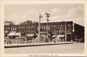 West Street Port Colborne Ontario Commercial Hotel Woolworth Peco Postcard E65