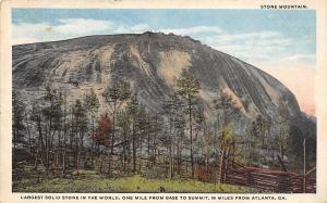 Stone Mountain Georgia~Before Any Hype~No Carving~Split Rail Fence~1910 PC
