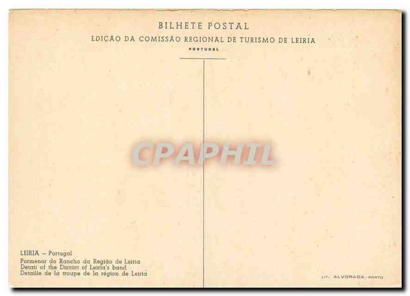 Postcard Modern Leiria Portugal Detaille of the company in the region of Leiria