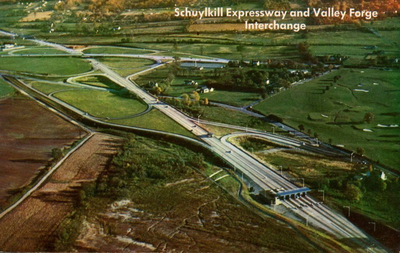 PA - Valley Forge. Junction of PA Turnpike & Schuylkill Expressway