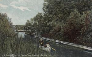 Orillia , Ontario , 1900-10s ; Pretty Spot on Lake Couchiening