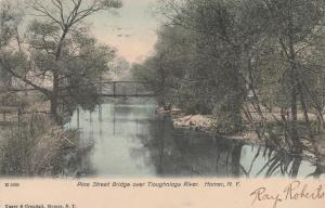 Pine Street Bridge over Tioughnioga River - Homer NY, New York - pm 1907 - UDB