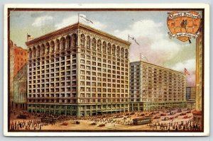 Chicago IL~Mandel Brothers Department Store~Heart Map~Artist Conception~1911 PC