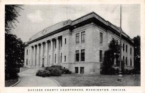 B78/ Washington Indiana In Postcard c1940s Daviess County Court House