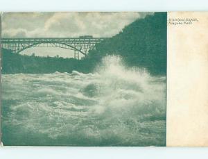 Unused Pre-1907 BRIDGE OVER WHIRLPOOL RAPIDS IN NIAGARA FALLS CANADA t3338