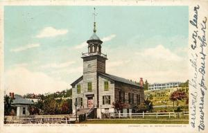Mackinac Island MI Detroit Publishing #6162 Wooden Structure, Nice Belfry 1902
