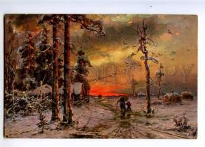 224546 RUSSIA KLEVER Dorpat winter evening Richard #774 old