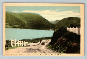 Riviere Claude P.Q. Canada - On Gaspe Highway Vintage Postcard