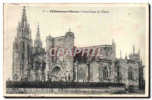 Old Postcard Chalons sur Marne Our Lady of the Thorn