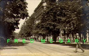 1912 Helsinki Finland RPPC: Bulevandinåtu (Boulevard)