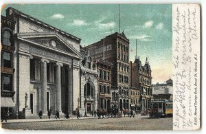 Newark, New Jersey - HOWARD SAVINGS BANK, BROAD ST - 1908 UDB Postcard
