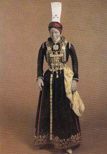 1930s Iceland Bridal Fashion Costume London Museum Postcard
