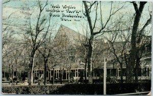 San Antonio, Texas Postcard HOT WELLS HOTEL & PARK C.U. Williams 1911 Cancel