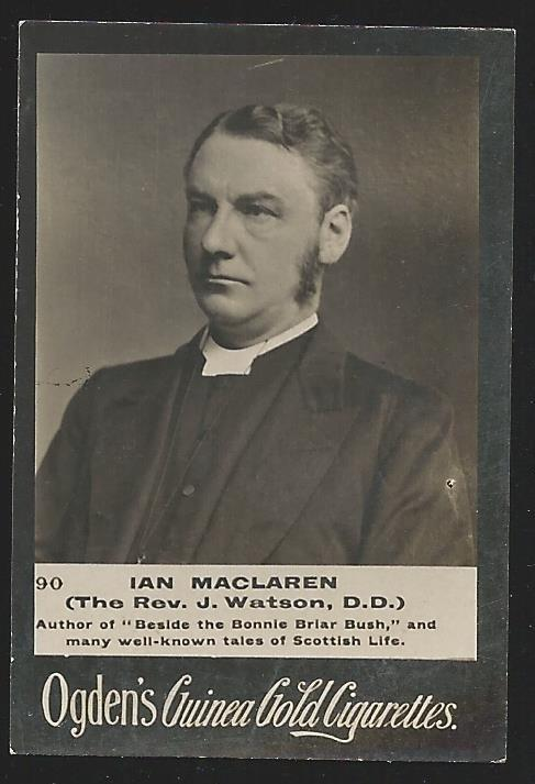 Ogden's Guinea Gold IAN MACLAREN Cigarettes Card. Usual Small faults