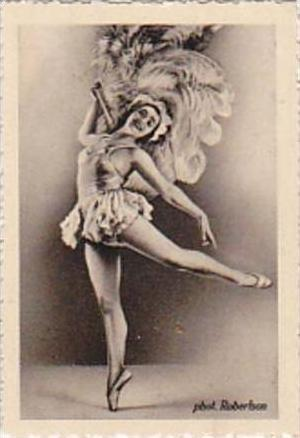 GARBATI CIGARETTE CARD FAMOUS DANCERS NO 228 SOLVEIG ANDERSON