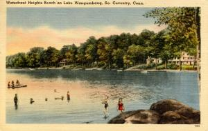 CT - South Coventry. Waterfront Heights Beach, Lake Wangumbaug