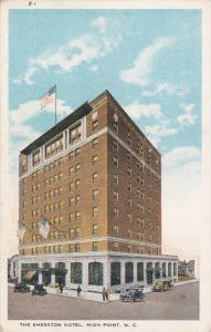 HIGH POINT, North Carolina, 1900-1910's; The Sheraton Hotel, Classic Cars