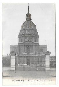 Paris France Dome des Invalides J.H. Vtg Postcard