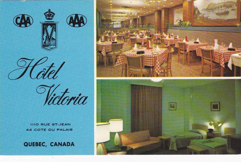 Hotel Victoria, Cocktail Lounge,  Quebec,  Canada,  PU_1977