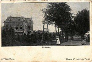 CPA APPINGEDAM Stationsweg NETHERLANDS (705957)