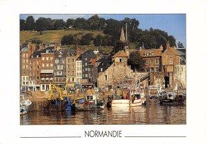 France Normandie Harbour Fishing Boats Port Postcard