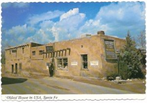 Santa Fe, New Mexico. Old House in the USA. Unused.  *Small staple holes