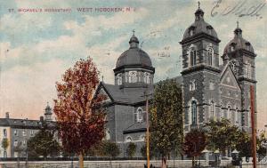 St. Michael's Monastary, West Hoboken, N.J., Early Postcard, Used in 1909