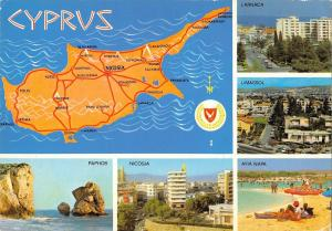 B96498 cyprus map cartes geographiques