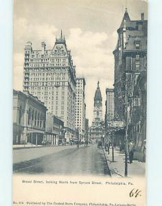 Pre-1907 STREET SCENE Philadelphia Pennsylvania PA W2438