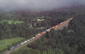 Consolidated Rail Corp Train Number TV203 Crossing Starrucca Viaduct at Lanes...