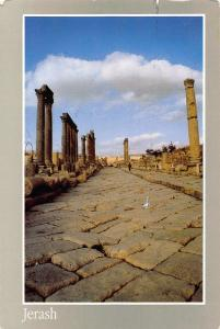 Jordan Jerash Colonnaded Street Ruins Postcard