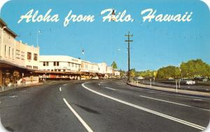 Hilo Hawaii~Kamehameha Avenue Stores~1950s Cars~1962 Postcard