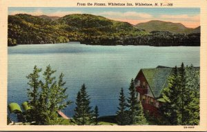 New York Adirondacks Whiteface The Whiteface Inn From The Piazza 1949 Curteich