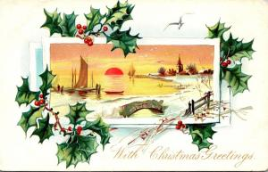 Tucks Christmas Greetings With Landscape Scene