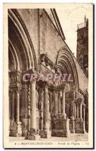 Old Postcard Saint Gilles Du Gard Portal Church