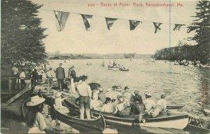 Kennebunkport Maine Races Picnic Park 1918 Postcard Rankin 20-1049