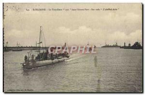 Postcard Old St Nazaire The Torpedo 237 in & # 39avant harbor harbor on L & #...